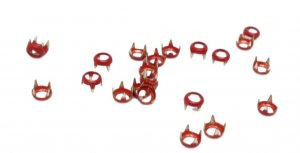 Red Metal Open Round Studs - 5mm - 100 Pieces