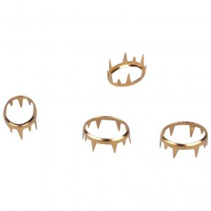 Gold Metal Open Oval Studs - 15mm