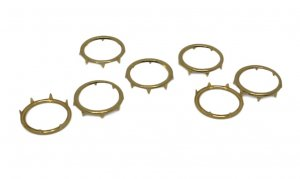 Gold Metal Open Round Stud - 14mm