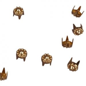 Gold Decorative Metal Round Studs - 4mm