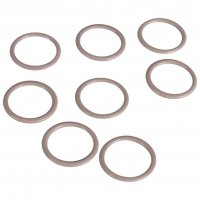 High Quality Tan Metal Rings - 1/2 inch or 13mm