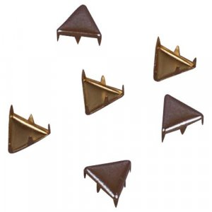 Iridescent Brown Metal Triangle Studs - 9mm