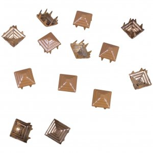 Tan Pyramid Square Studs - 8mm