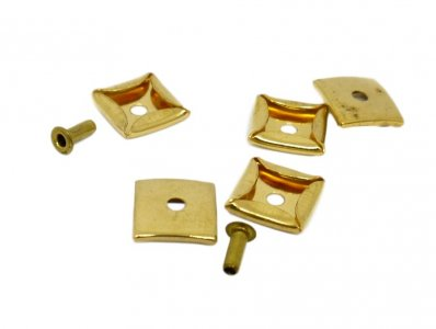 Square Gold Metal Disk - 11mm