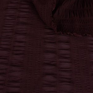 Brown Textured Stretch Mesh Knit - 44 inch wide - 2 Yard