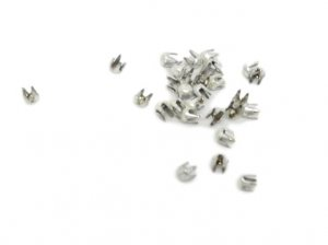 White Metal Round Pyramid Studs - 2mm