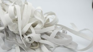 "White Plain Elastic - 3/8"" wide - 22 Yards"