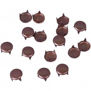 Vintage Retro Brown Metal Round Studs - 6mm