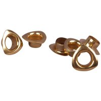 Gold Triangle Metal Grommet - 8mm