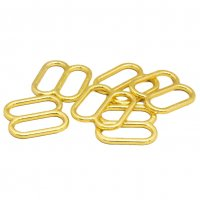 Quality Wide Opening Gold Metal Slides - 5/8 inch or 16mm