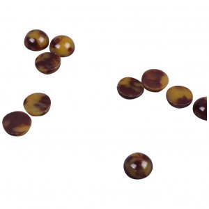 Brown Plastic Stone - 9mm