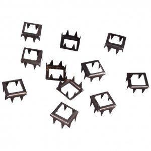 Silver Metal Open Square Studs - 9mm - 50 pieces