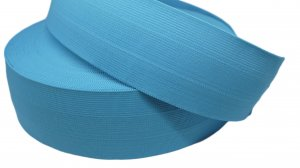 Carolina Blue Plain Elastic - 2 1/2 inch - 1 yard