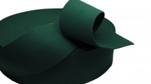 Deep Emerald Green Plain Elastic - 2 1/2 inch - 1 yard
