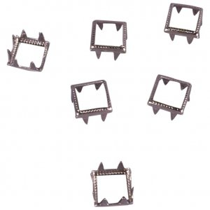 Silver Metal Open Square Studs - 6mm