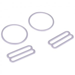 White Metal Ring & Slide Set - 1 inch or 25mm