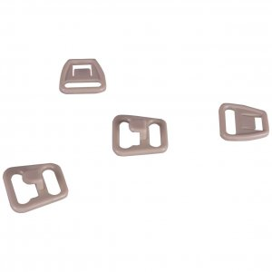 Quality Tan Plastic Nursing Clips - 3/8 inch or 10mm - 10 Sets