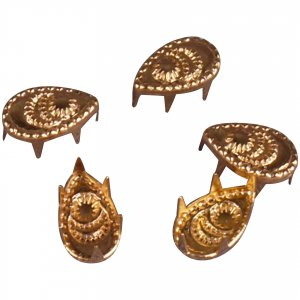 Gold Metal Teardrop Studs - 9mm