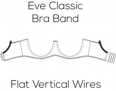 Eve Classic Bra Band for Wide Flat Vertical Wire