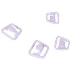 White Plastic Nursing Clips - 1/2 inch or 14mm - 1 Set