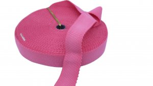 Pink Plush Back Strap or Waistband Elastic - 1 inch - 3 Yards