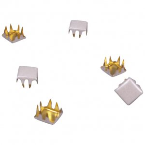 White Pearl Metal Square Studs - 6mm