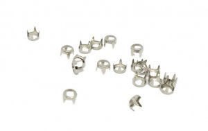 Silver Metal Open Round Studs - 5mm