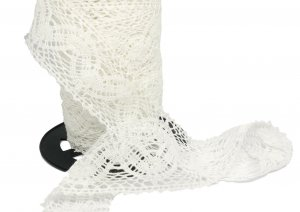"White Vintage Lace - 1 1/2"" Wide - 2 Yards"