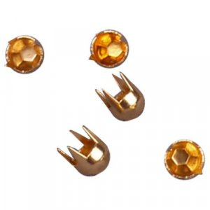 Gold Metal Round Dome Pyramid Studs - 5mm