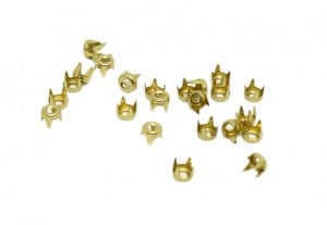 Brassy Gold Metal Round Studs - 4mm