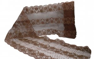 "Soft Brown Vintage Lace - 6 1/4"" Wide - 1 1/2 Yards"