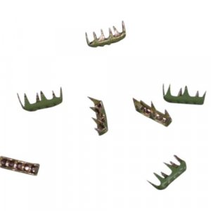 Green Quilted Metal Rectangle Studs - 7mm