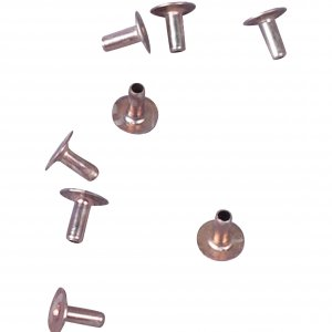 Silver Round Metal Rivet - 2mm