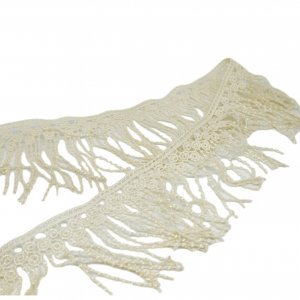 "Cream Vintage Lace Fringe 3"" Wide - 3 5/8 Yard"