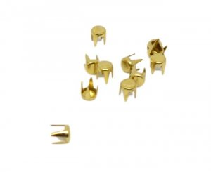 Gold Metal Round Studs - 4mm