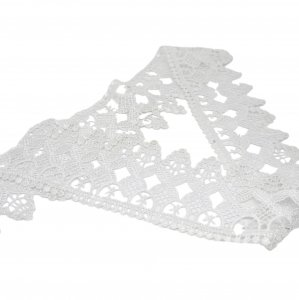"Crochet Look White Vintage Lace 3"" Wide - 1 Yard"