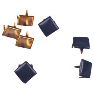 Navy Blue Metal Square Studs - 6mm