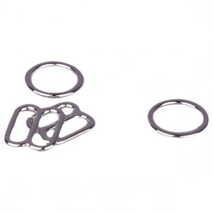 Silver Metal Alloy Ring & Slide Set - 1/4 inch or 7mm