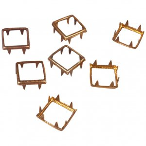 Gold Metal Open Square Studs - 12mm