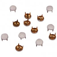 Cream Decorative Metal Round Studs - 6mm