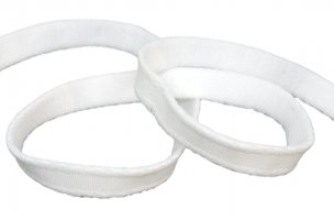 White Dyeable Nylon Bra Wire Channeling Casing
