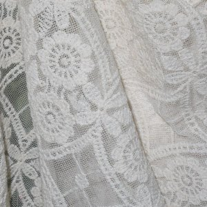 Cream Embroidered Lace - 50 inch wide - 3 Yard