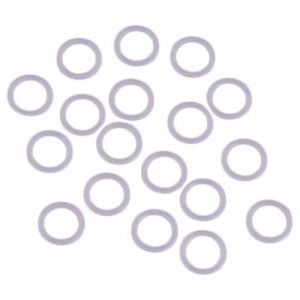 Dyable White Plastic Strap Rings - 1/4 inch or 7mm