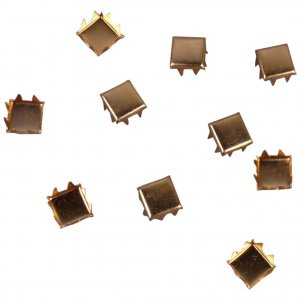 Square Gold Metal Stud - 6mm