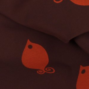 Brown and Orange Fish Fabric - 54 inch - 2 Yards