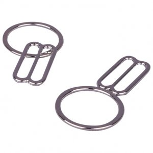 Silver Metal Alloy Ring & Slide Set - 3/4 inch or 19mm