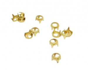 Gold Metal Open Round Studs - 5mm