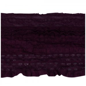 Eggplant Purple Stretch Ruffle Lace - 6 inch