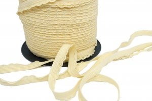 Yellow Decorative Picot Edge Elastic - 5 Yards