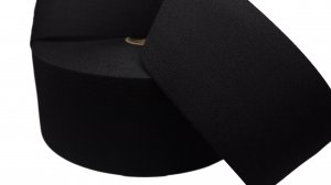 Black Plain Elastic - 4 inch - 1 yard